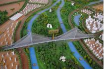 郁洲大桥施工 通往新浦更加方便