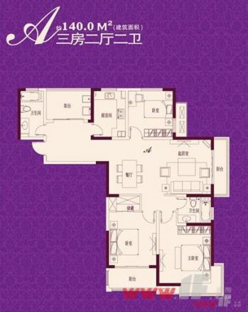 140平米格局设计图