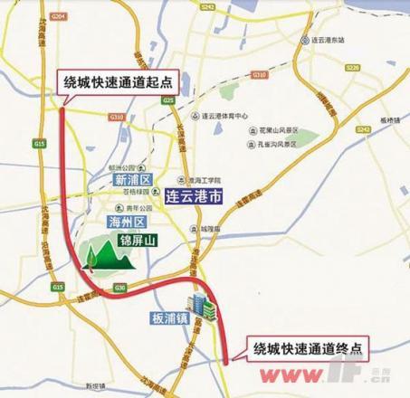 连云港开建绕城快速通道图片