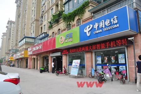 中茵名都小区沿街商业已然成熟