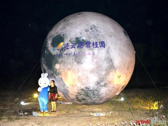 玉兔月亮图片手绘