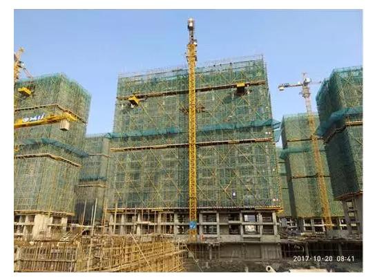 4#楼十七层主体结构施工