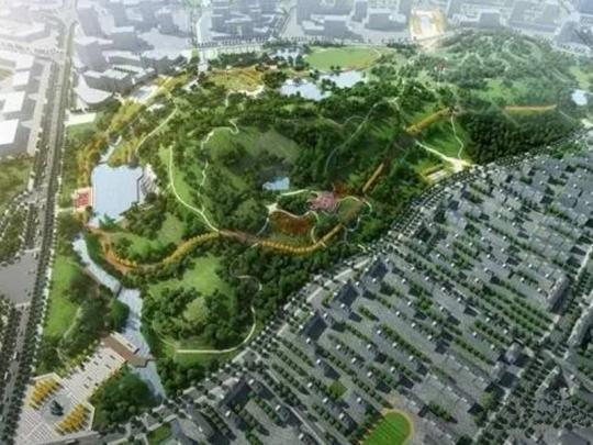 西凤凰山公园效果图(在建)