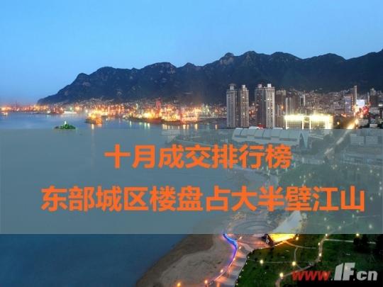 十月成交排行榜 东部城区楼盘占大半壁江山-连云港房产网
