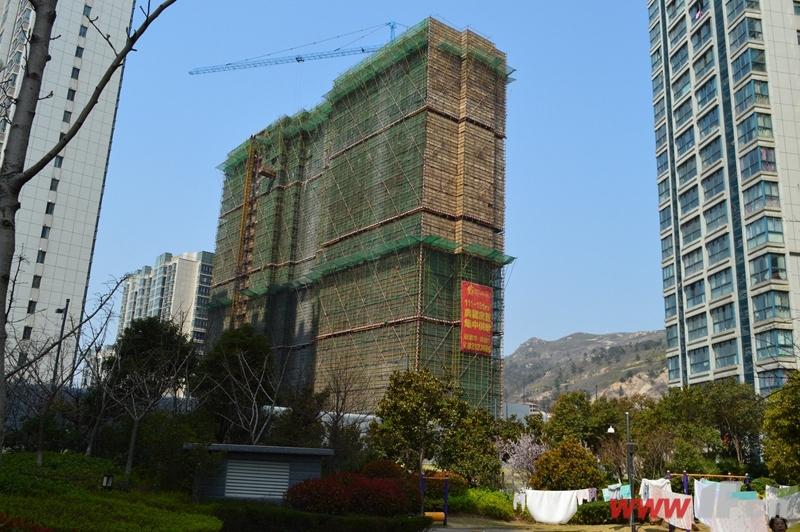 东盛·四季花城已封顶的A13号楼