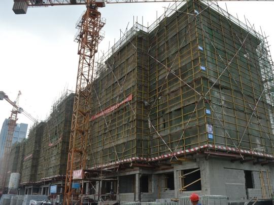 2#楼正在施工中