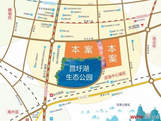 香江悦湖春天区位图