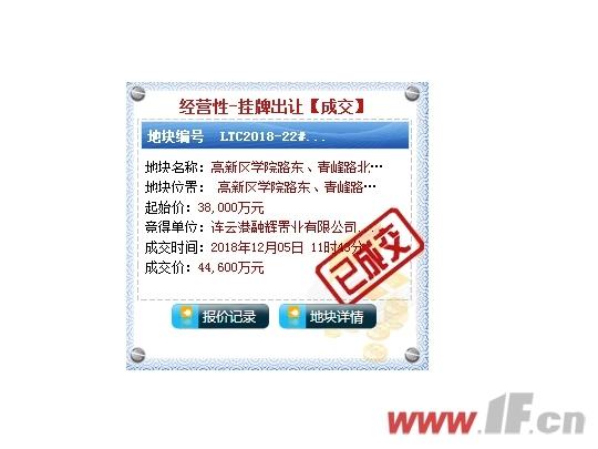 金辉赢了 22#地块溢价率17%成交-连云港房产网