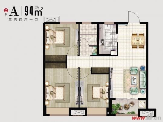 太给力!全能型三房竟然可以做到这么多-连云港房产网