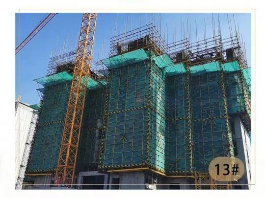 东区住宅13#楼9层结平模板安装完成