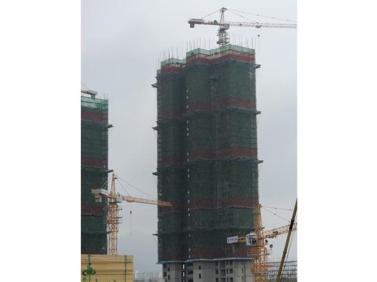 3#楼三十层墙柱钢筋绑扎