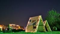 绿洲原木公园,周末绿野寻宝藏,吸引大批游客