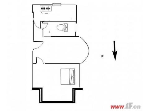 新海花园一房一厅,标准单身公寓 j简单装修,看房提