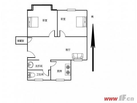 龙河小区 简装两室