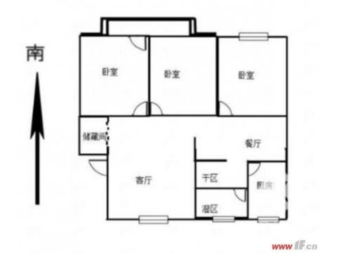 急售麻纺小区多层二楼带大平方车库精装三室朝南!采