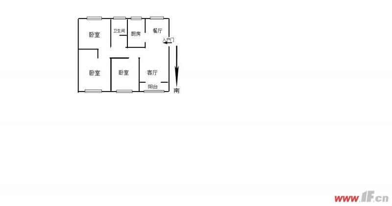 市政府南凤凰星城三期毛坯3室南北通透户型方正看房方